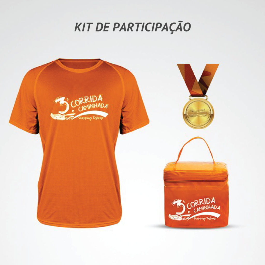 Kit Participação 3ª Corrida e Caminhada Shopping Taboão
